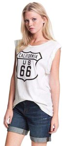 Wildfox California Roadtrip Tank T Shirt White