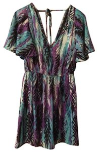 Johnny Martin short dress Multi, patterned, blue, purple, cool colors Patterned Beach Multi on Tradesy