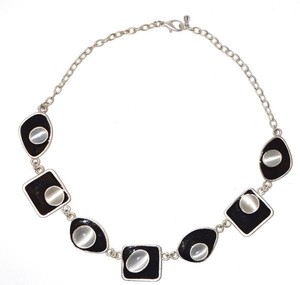 Stunning Resin Geometric Chain Collared Necklace