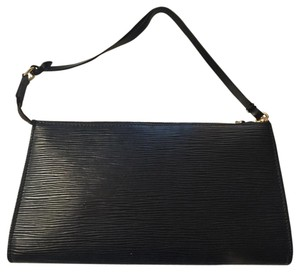 Louis Vuitton Epi Pochette Black clutch Black Clutch