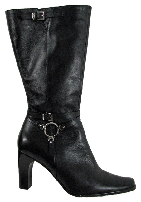 Item - Black M Silver Ankle Diva Motorcycle Boots/Booties Size US 9 Regular (M, B)