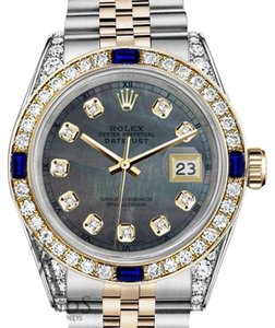 Rolex Rolex 36mm Datejust Watch Black MOP Dial with Sapphire&Diamond Bezel