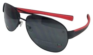 TAG Heuer New TAG HEUER Sunglasses TH 0256 110 64-15 Black & Red w/Outdoor Grey