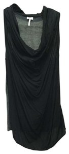 Splendid Jersey Soft Draped Blouse Top Black