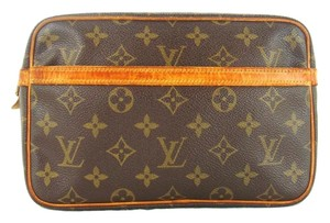Louis Vuitton Vintage Monogram Canvas Leather Compiegne 23 Makeup Travel Dopp Bag