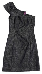 Kay Unger short dress Silver Reptile Print One on Tradesy