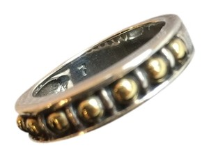 Lagos Lagos Caviar Sterling Silver and 18k Gold Band