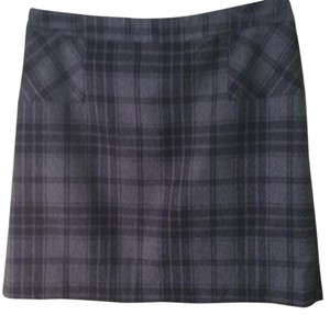 Willi Smith Mini Skirt Black and gray