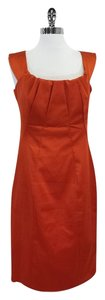 Karen Millen short dress Orange Silk Sleeveless on Tradesy