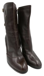 Oscar de la Renta Mid-calf Leather Brown Boots