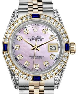Rolex Women's Rolex 31mm Datejust Watch Pink MOP Dial Sapphire & Diamond