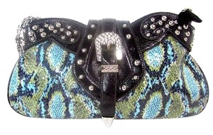 Other Sequinned Animal Print Western Baguette