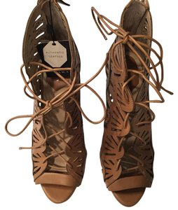 Zara leather lace up sandals Tan Sandals