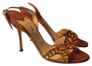 Jimmy Choo Brown Leather Sandals
