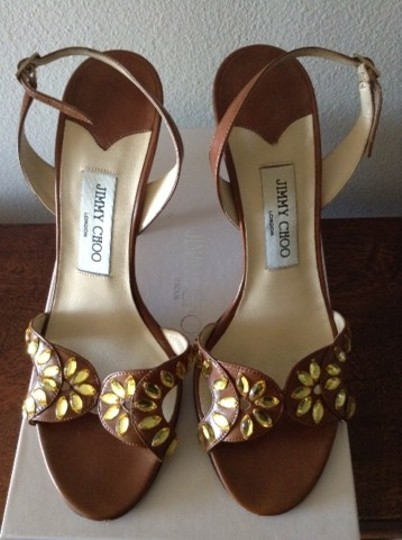 Jimmy Choo Brown Leather Sandals Image 1
