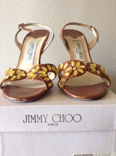 Jimmy Choo Brown Leather Sandals Image 3