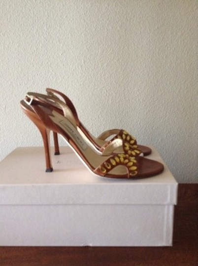 Jimmy Choo Brown Leather Sandals Image 7
