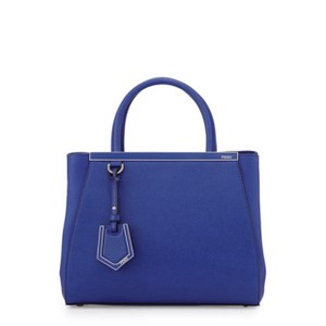 Fendi 2jours Shopper Leather New Tote in Blue