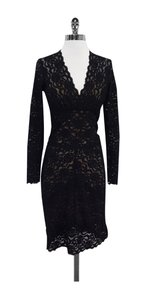 Nicole Miller short dress Black Lace Lace on Tradesy