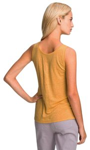 Eileen Fisher Dandelion Elongated Scoop-neck Top NWT Yellow