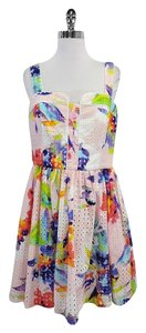 Trina Turk short dress Watercolor Floral Cotton on Tradesy