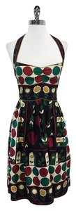 Nicole Miller Multi Color Floral Silk Dress