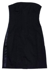 Theory short dress Black Wool Strapless on Tradesy