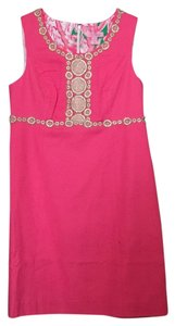 Lilly Pulitzer Embellished Neckline Shell 100% Cotton Lining 100% Cotton Dress