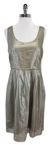 Elie Tahari short dress Metallic Sleeveless on Tradesy