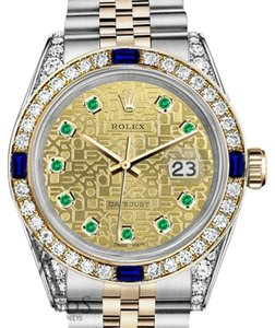 Rolex Women's Rolex 31mm Datejust Two Tone Dial with Sapphire & Diamond