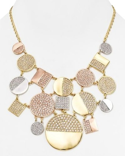 Kate Spade Signature Piece of the Collection Kate Spade Light the Lanterns Necklace MSRP$278 Tri Color Gold & Crystal Architectural Statement