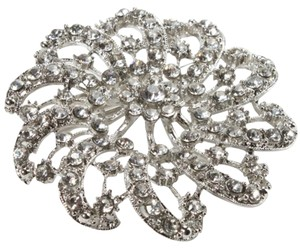 Other Vintage inspired Floral Design Rhinestone Brooch Pin