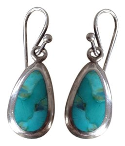 Barse Turquoise & 925 Silver Earrings