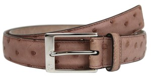 Gucci Authentic Gucci Pink Ostrich Belt w/Silver Buckle 105/42 345658 6333