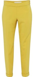 French Connection Gold Trouser Pants Citronella