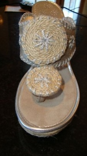 Jack Rogers Mallorca Wedge Size 8 Style:1221072pm Silver Sandals