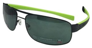 TAG Heuer Polarized TAG HEUER Sunglasses TH 0251 309 Black-Green w/Green Lenses
