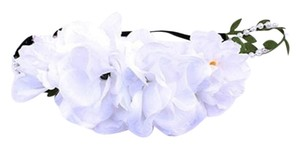 Other Boho Chic White Stretch Flower Pearl Accent Headband Hair Accessory