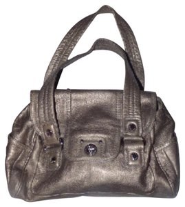 Marc by Marc Jacobs Xl Style Mint Condition Dressy Or Casual Chrome Hardware Satchel in pewter/metallic leather