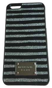 Michael Kors Iphone 6 Cover Glitter Paint Stripe Silver Black