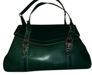 Cole Haan Leather Classic Satchel in Green