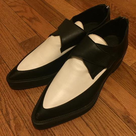Helmut Lang Creeper Two-tone Platforms Black and White Flats