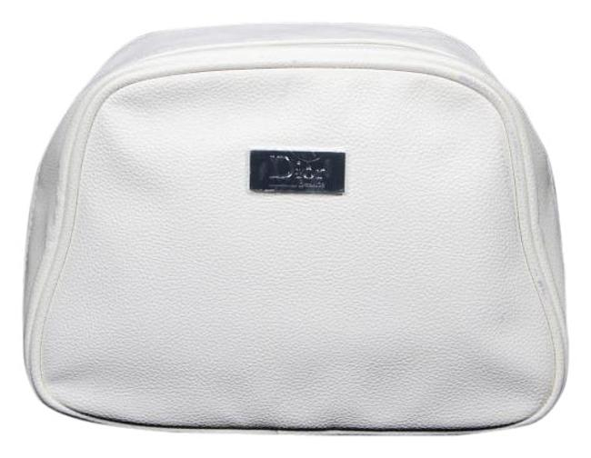 Item - White Pouch Christian with Dust Cosmetic Bag