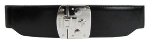 Gucci New Gucci Black Waist Corset Belt Lock Buckle 75/30 331691 1000
