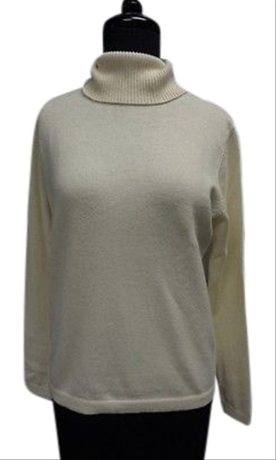 Item - Long Sleeved Stretch Cashmere Small Ivory Sweater