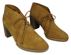 Tory Burch Suede Laces Heel Ankle tan Boots