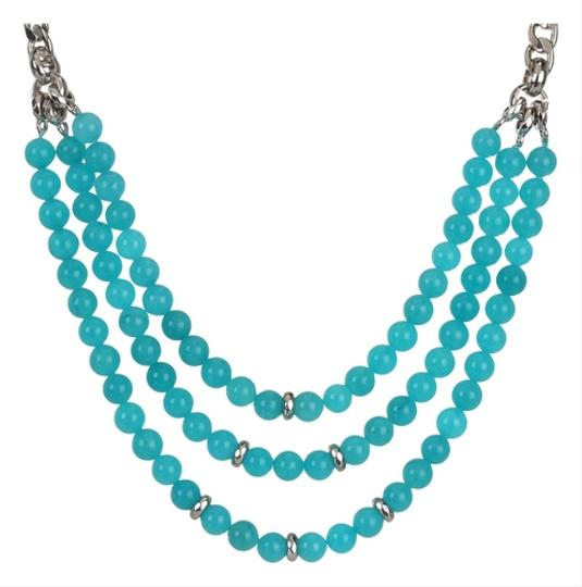 Preload https://item2.tradesy.com/images/fossil-new-fossil-brand-teal-blue-dyed-jade-bead-triple-row-necklace-1807126-0-0.jpg?width=440&height=440