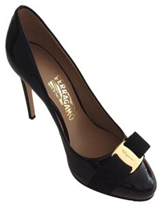 Salvatore Ferragamo Size 6.5 Black Platforms