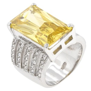 Yellow Cubic Zirconia Oversized Cocktail Ring [SHIPS NEXT DAY]