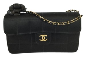 Chanel Satin Camellia Shoulder Bag